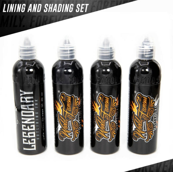 World Famous ink - Lining and Shading set 4pc