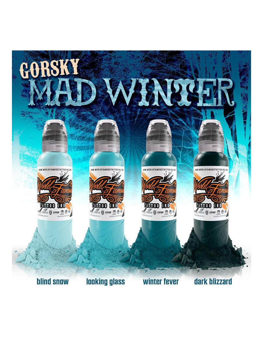 Set World Famous Damian Gorsky Mad Winter 4x120ml