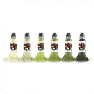 World Famous Ink - Vincent's Rotten Greens Set - 6 x 120ml