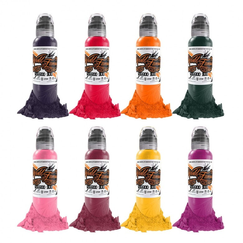 Complete Set of 8 World Famous Ink Ryan Smith Flower Set 30ml