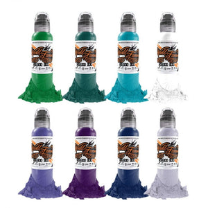 Complete Set of 8 World Famous Ink Ryan Smith Jewel Set 30ml
