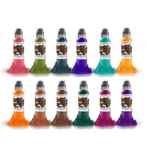 Complete Set of 12 World Famous Ink Jay Freestyle Watercolor Set 30ml
