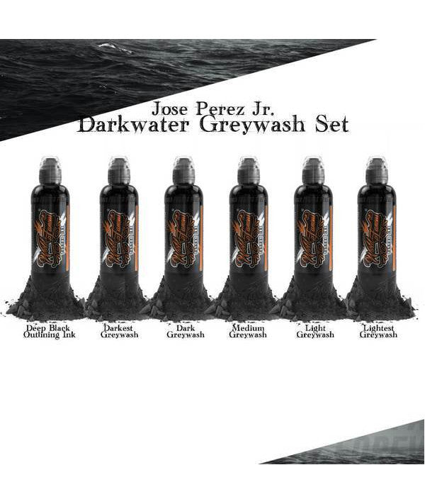 World Famous ink - Jose Perez Dark water gray work set 6pc - 120ml