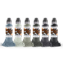 Load image into Gallery viewer, World Famous ink - Poch's muted storms set 6pc - 120ml