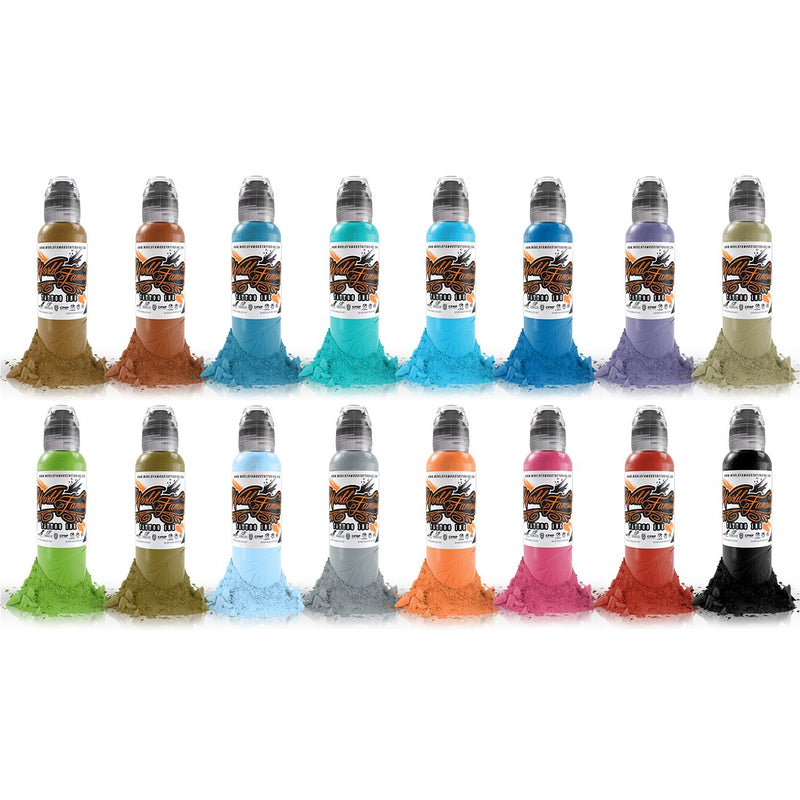 Complete Set of 16 World Famous Ink Sixteen Colour Set #2 30ml