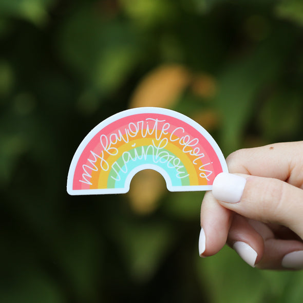 My Favorite Color is Rainbow Sticker