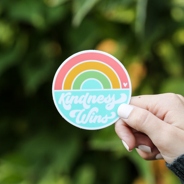 Kindness Wins Sticker