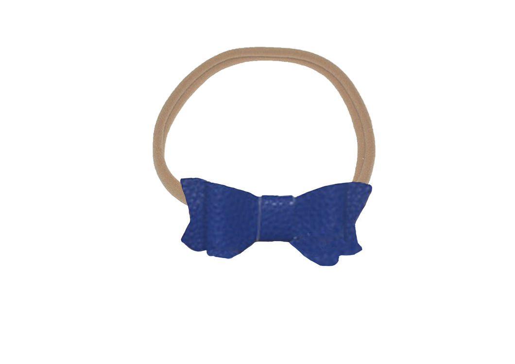 Bow Headband Dark Blue