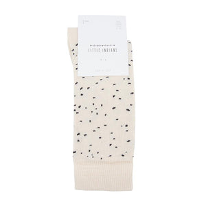 Knee Socks Dots - Ecru
