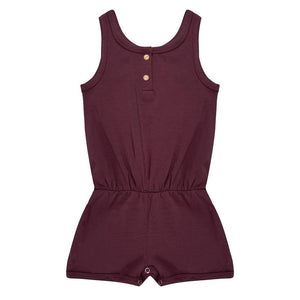 Jumpsuit Short - Eggplant