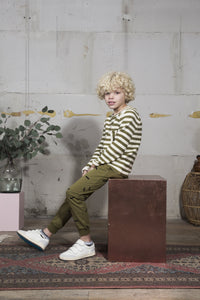 Sweater - Olive Stripe