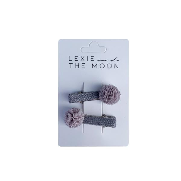 Hair Clip Pom Pom Pale Purple