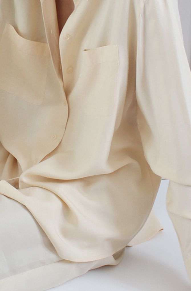 Organic Silk Cream Blouse Sustainable Fashion