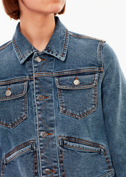 Denim Jacket Mid Blue Vintage - Rêve Ultime