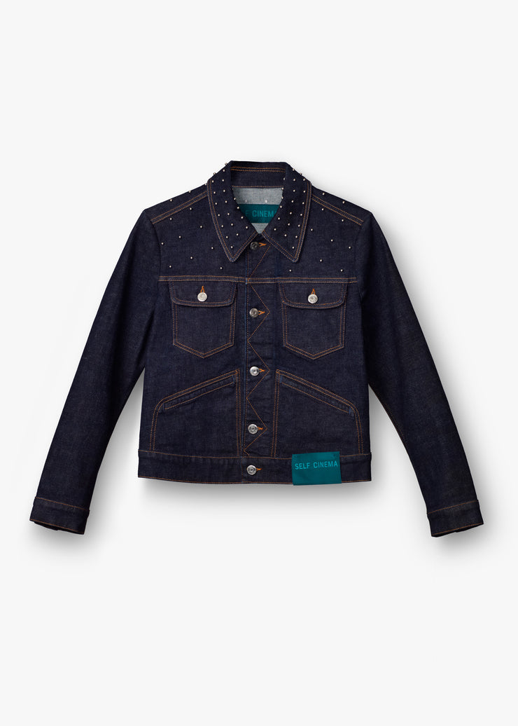 Denim Jacket Stud Indigo Rinse - Rêve Ultime