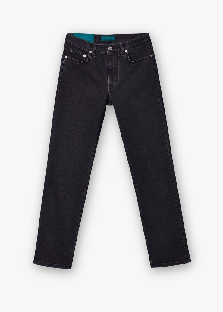 Slim Straight Jeans Washed Black - Rêve Ultime