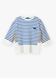 Patch Breton White/Black Stripe - Rêve Ultime