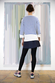 Patch Breton White/Black Stripe