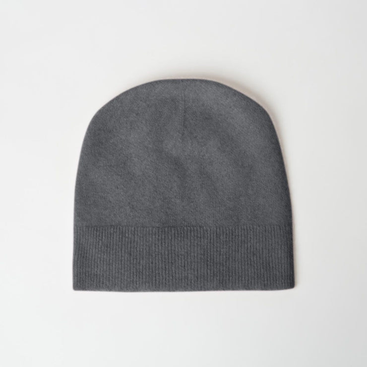 Alby Cashmere Beanie Hat in Charcoal