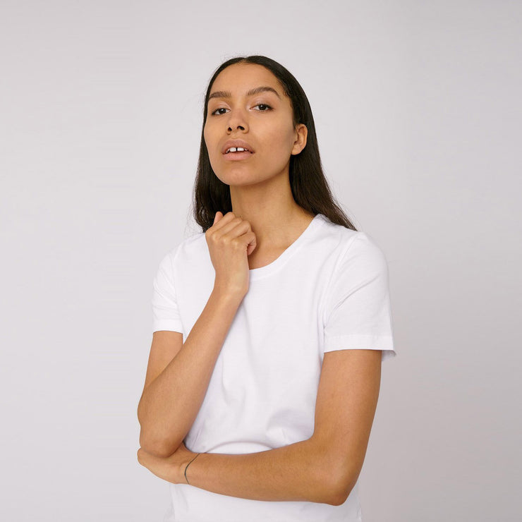 Organic Cotton Women's Tee White - Rêve Ultime