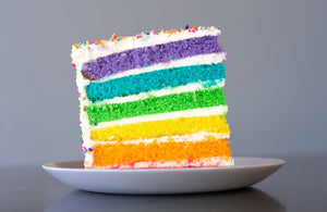 RAINBOW CAKE PRE-SLICED - 8 SLICES - SHIPPING INCLUDED*