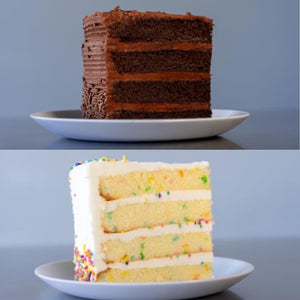 CHOCOLATE & VANILLA CAKE SLICE MIX - 8 SLICES -  SHIPPING INCLUDED*