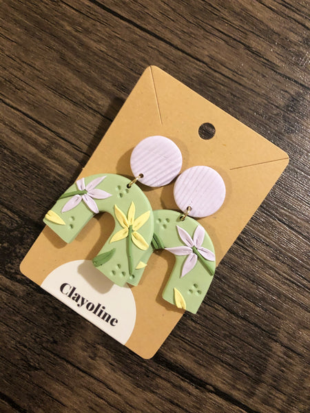 Floral Pastels Clay Earrings