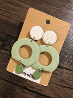 Pastel Round Drip Clay Earrings