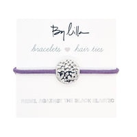 Hammered Bellflower - Hair Tie / Bracelet