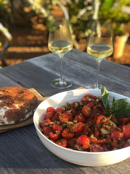 Lanie Dineen's Roasted Peppers with Tomato Salad