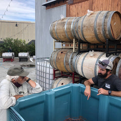 Justin Neufeld and Pat Dineen discuss fermentation of Cabernet Franc