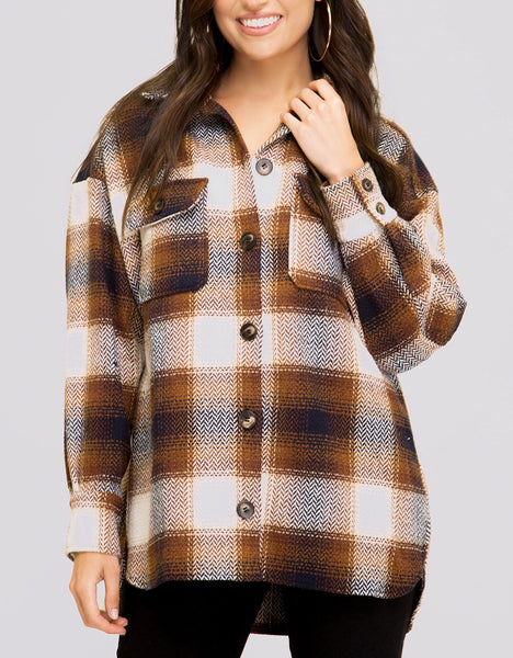 Brown/Navy Flannel Shirt/Jacket
