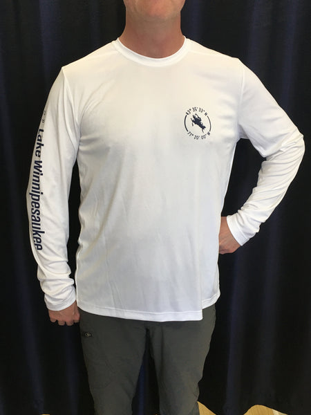 Lake Winnipesaukee White UPF50 Long Sleeve