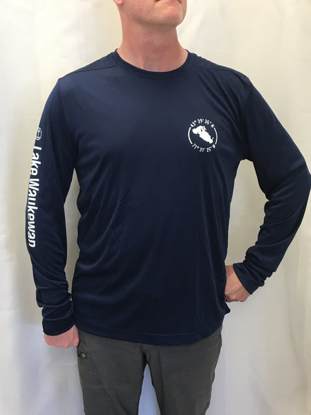 Lake Waukewan Navy UPF50 Long Sleeve