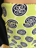 Lime/Navy Medallion Skort