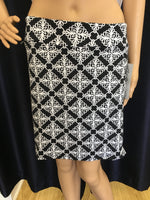 Black/White Filigree Skort