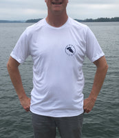Lake Waukewan White UPF50 Short Sleeve