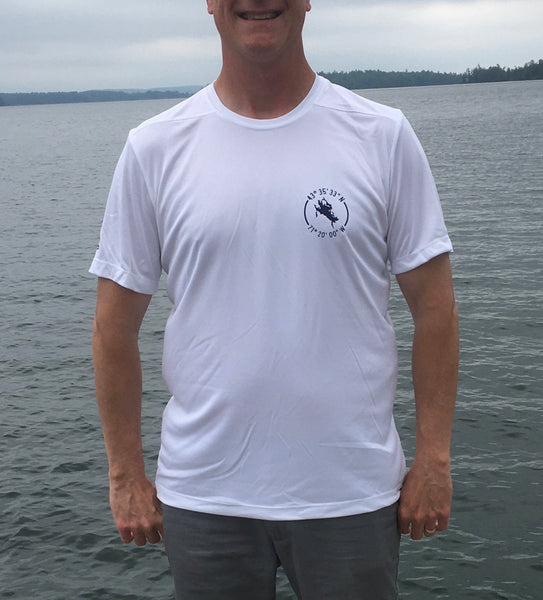 Lake Winnipesaukee White UPF50 Short Sleeve