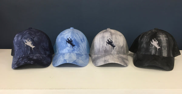 Lake Winnipesaukee Tie Dyed Trucker Pony Hat (Ladies)
