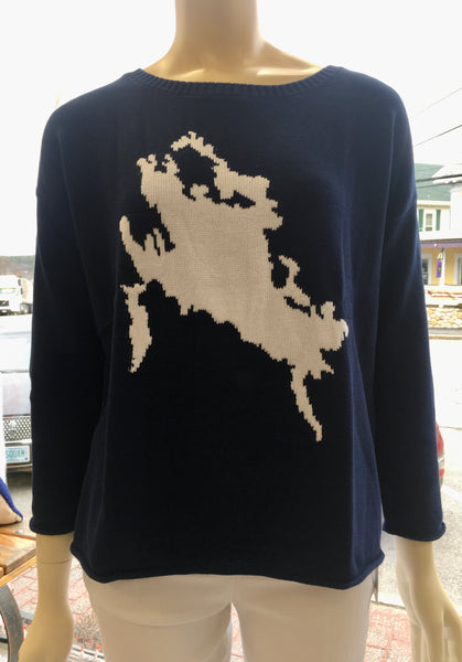 Lake Winnipesaukee Navy/White Sweater
