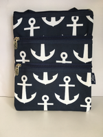Navy w/White Anchor Crossbody