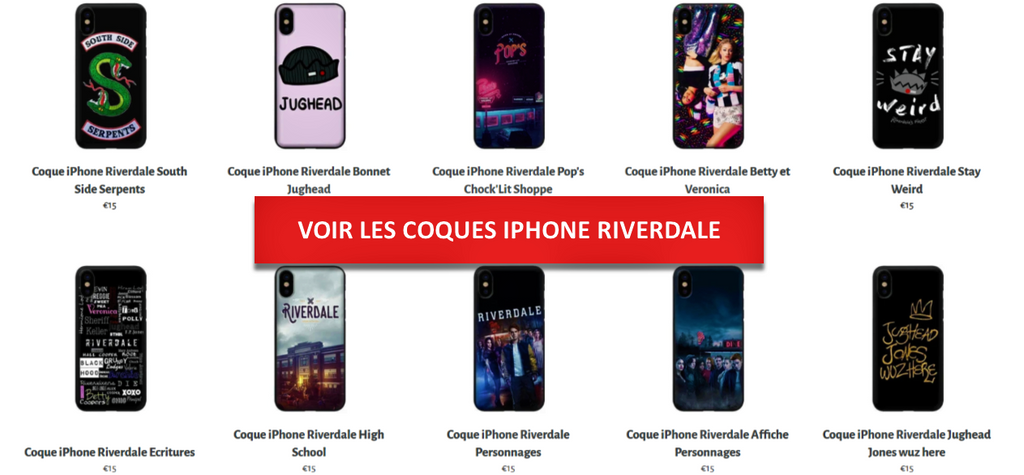 Coques iPhone Riverdale - Collection - Séries Boutique