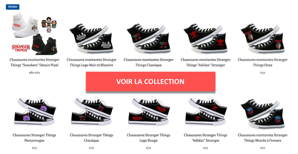 Collection chaussures stranger things