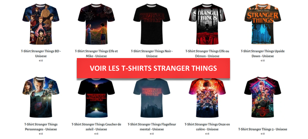 Collections T-Shirts Stranger Things