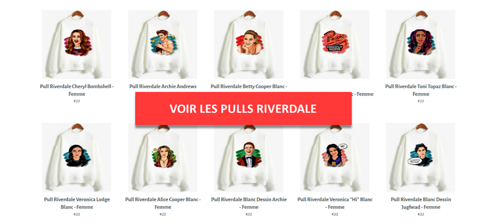 Pulls Riverdale - Collection - Séries Boutique