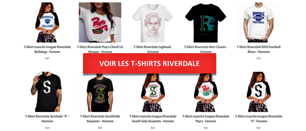 T-Shirt Riverdale - Collection - Séries Boutique