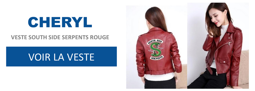Veste South Side Serpents Rouge - Cheryl - Riverdale