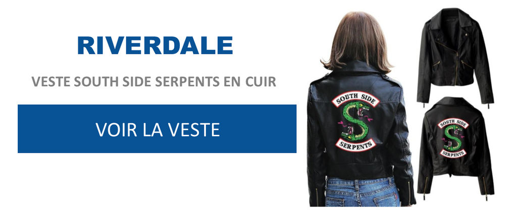 Veste South Side Serpents en cuir - Riverdale - Séries Boutique