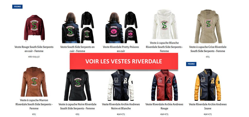 Vestes Riverdale - Collection