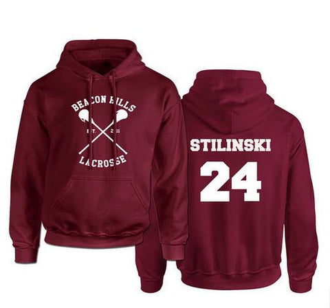 Sweat Teen Wolf Stilinski 24 Lacrosse